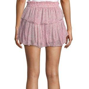 LoveShackFancy Tiered Ruffle Mini Skirt NWT XS